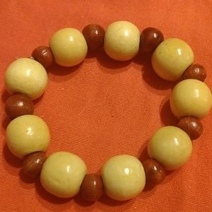 Wooden Bead Stretch Small Wrist NWOT